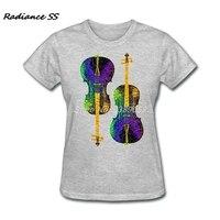 2017 Custom Made Dubbele Cello 'S Vrouwen Tee Nieuwe Stijl Hot Koop Korte Mouw Biologische Katoen t-shirts Womens