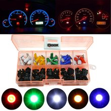 30 Sets Car Auto PC74 T5 LED Twist Socket Instrument Panel Cluster Plug Dash Light Mix Bulb with T5 Lamp Socket