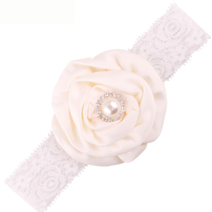 Newly Design 1 PC Pearl Rhinestone Lace Headbands Little Girl Fashion Jewelry Hair Accessories Headwear Sep23 ибп powercom imd 825ap imperial 825va 495w display usb avr rj11 rj45 3 2 iec
