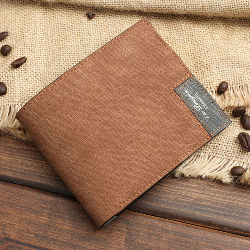 2019 NEW 30 Ps Men Wallet Wallet RFID Blocking Double-fold Wallets Short Ultra-thin Credit Card Purse Money Clips(China)