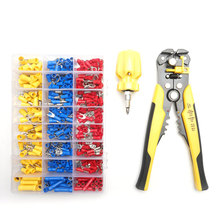 0.2-6.0mm² Crimper Cable Cutter Crimping Terminals Sets Wire Stripper Multifunctional Stripping Tools Pliers