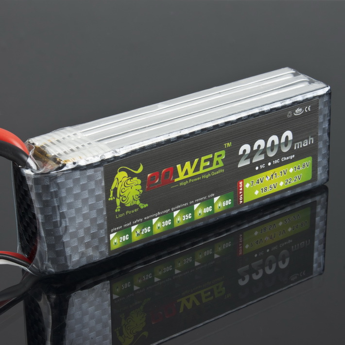 1pcs Lion Power lipo battery 3s 11.1v 2200mah 25c MAX 45C AKKU LiPo RC Battery For Rc Trex 450 Helicopter