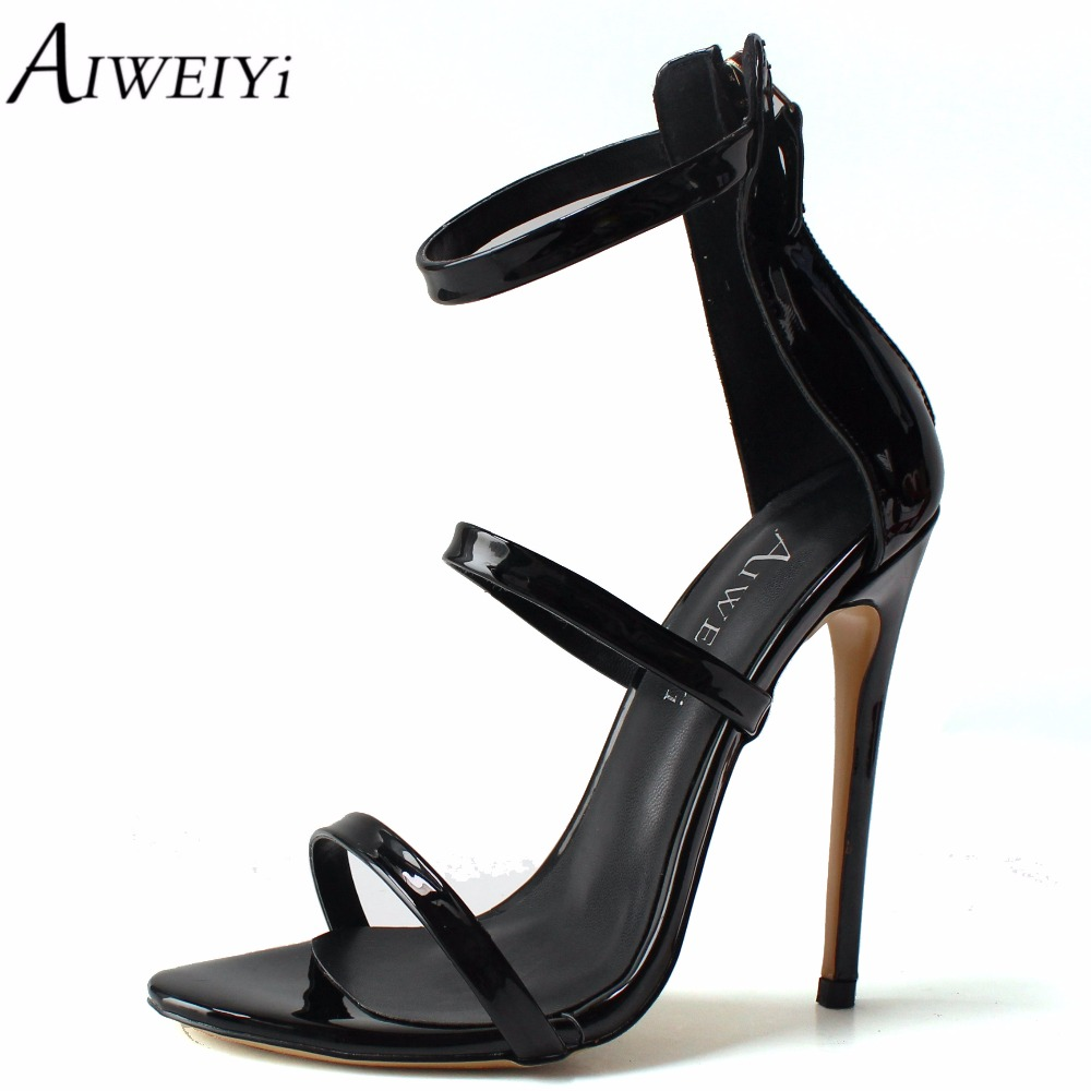 AIWEIYi Ladies 2017 Fashion PU Laether Open Toe High Heels Platform Gladiator Sandals Women Party Dress Stiletto Summer Shoes brand new stiletto high heels sandals gladiator women sexy platform rome style shoes summer ladies open toe buckle pumps fashion