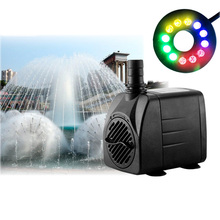 Mrosaa 15W 220V LED Light Submersible Water Pump Fountain pump Kit