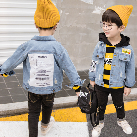 MANJI Children Jeans Jackets New Fashion Style fit 3 to 7 Years Old Spring Autumn Boys Denim Jackets Kids Clothes MKX017 Baby Bo Lahore
