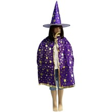 Halloween Children's Clothing Baby Boy Halloween Hot Stamping Five Star Cloak Cape + Hat Two-piece Child Adult Party Masquerade(China)