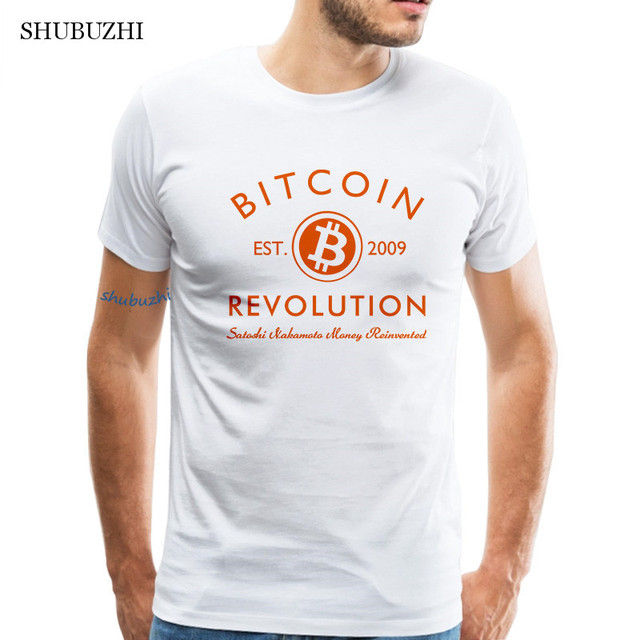 Awesome Retro Bitcoin TShirt Men Crewneck Printed Cryptocurrency Tee shirt Club Gift cotton t shirt Apparel Tops