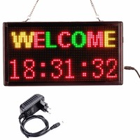 12V 220v Mobile programmable Wifi LED Sign RGY 3Color SMD Indoor Shop LED display message board Perfect solution for advertising