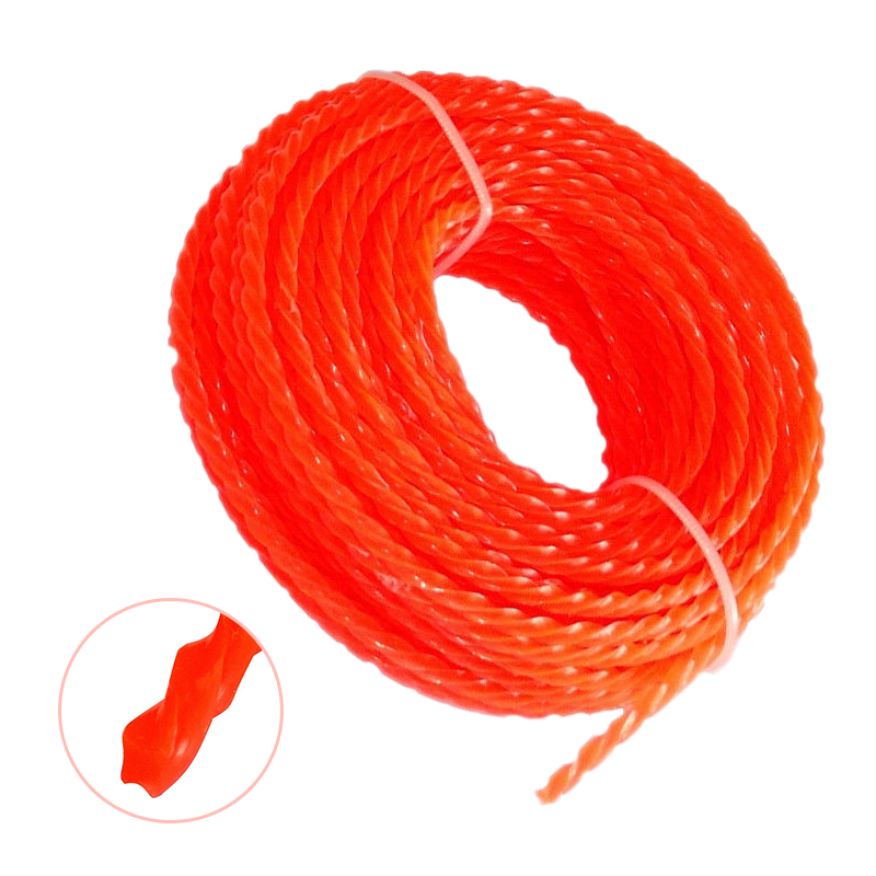 15m*3mm Nylon Strimmer Line Grass Cord Wire String Grass Trimmer Line for Lawn Mower Spool Replacement Accessory цена