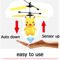 Kawaii Pikachu Sensor Helicopters toys for girls Flying PJ MASK Toys for Children Super Wings Kids Toys Birthday Present