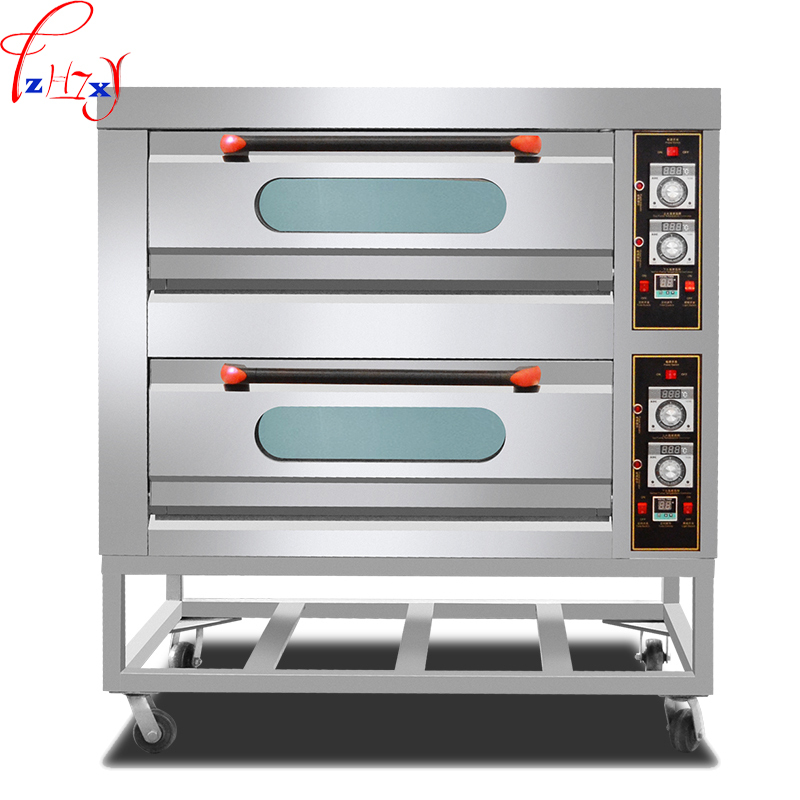 Commercial large-scale two four-plate regular bread oven digital multi-function cake pizza oven 220/380V 13.6KW