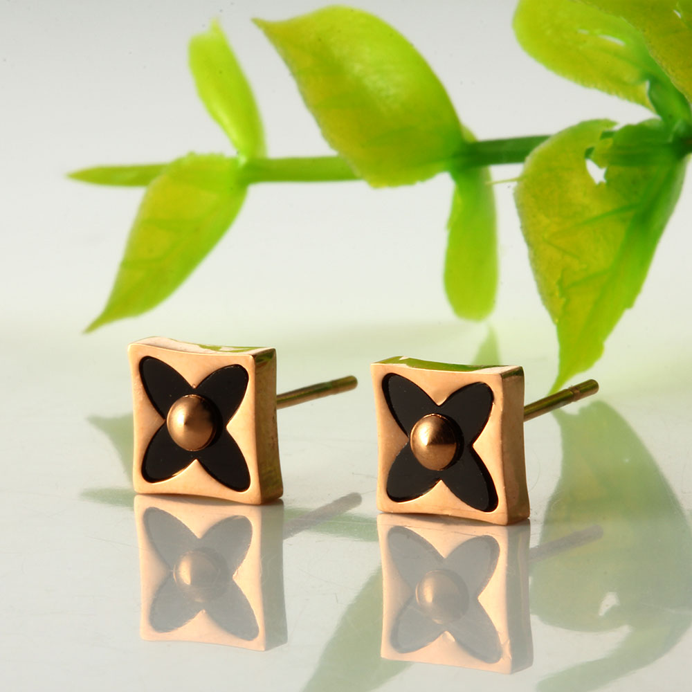 ZUUZ korean small rose gold geometric earrings 2018 for women fashion jewelry accesories minimalist gifts for girls earing