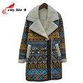 Искусственные замши пальто высокое качество 2015 лацканы шерсти овечки мода женщин с длинными молния флис верхняя одежда женщин кожаные куртки и пальто