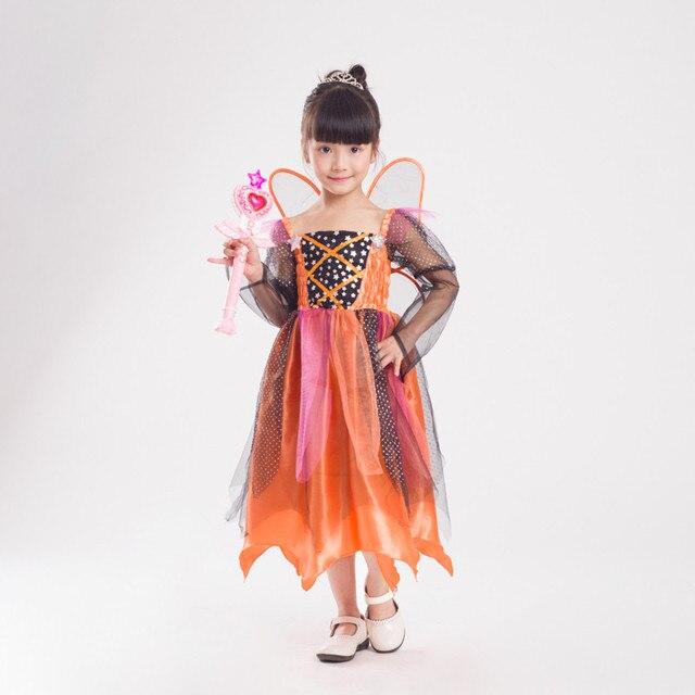 bd1fe541ee26 Costumi di halloween per le ragazze vestono Nuovo Carino Zucca elf Farfalla  Fantasia Fiaba Per Bambini