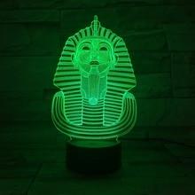Maske 3D Led Nachtlicht 7 Farben ändern Lampara Infantil Dekorative  Nachttischlampen Plexiglas Platte Tisch Lampe Innovative Ges.