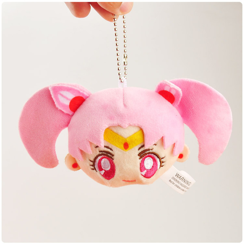 Sailor Moon Plush Toys Cute Anime Cartoon Super Moon Mercury Peluche Dolls Keychain Key Bag Pendant 10pcslot 8-9cm (1)
