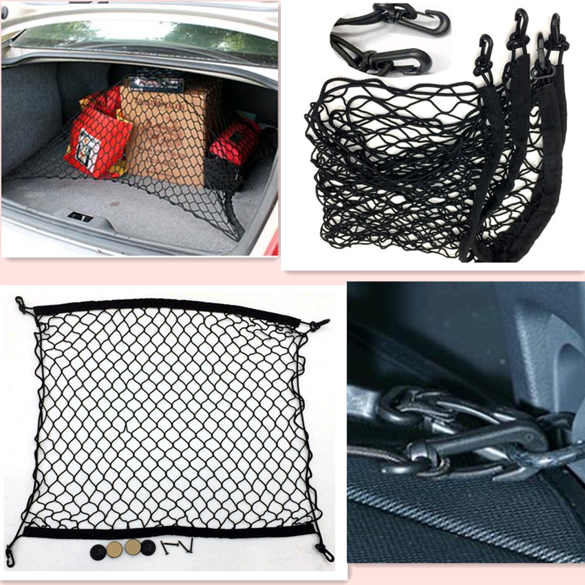 Car boot Trunk net,auto accessories For tucson 2016 peugeot 208 bmw e36 toyota avensis bmw e46 mazda accessories auto cargo liner trunk mats for bmw x5 f15 x5m xdrive 2014 2017 boot mat high quality new embroidery leather free shipping