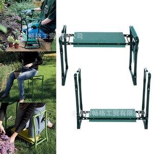 Image 5 - A, pelador de jardín con asas taburete de jardín plegable de acero inoxidable con almohadilla de frotamiento EVA suministros de regalos de jardinería