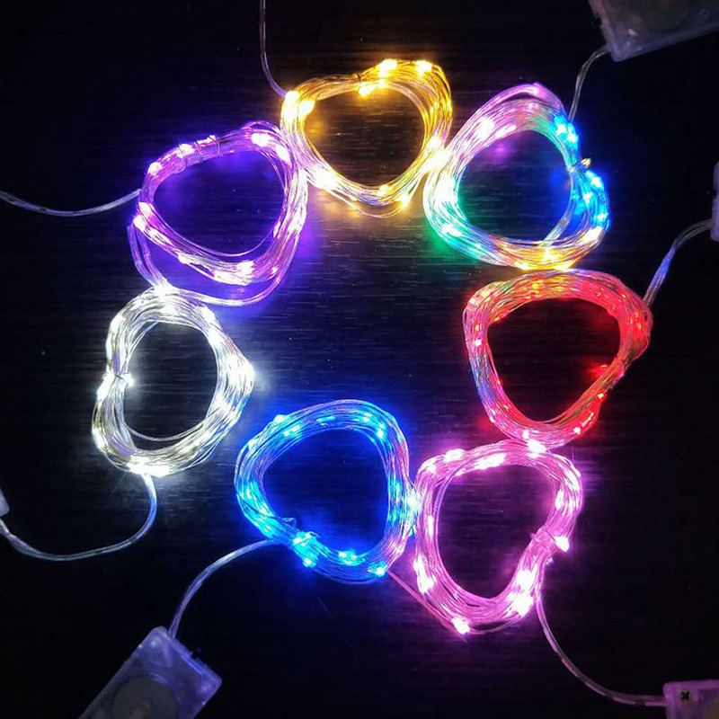 1M 10 Led Copper Wire LED String Light Lighting Fairy Garland New Year Christmas Decorations For Home Wedding Party Decoration.q