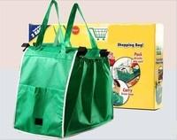 2pcs Green Bags Supermarket Shopping Bags Folding Shopping Bag Shopping Cart Storage Bag