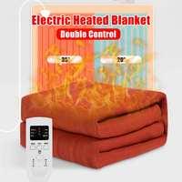 Электрическое одеяло нагревание толще теплая подстилка двойной/один тела грелка электрик ковры удобный термостат с подогревом бланке