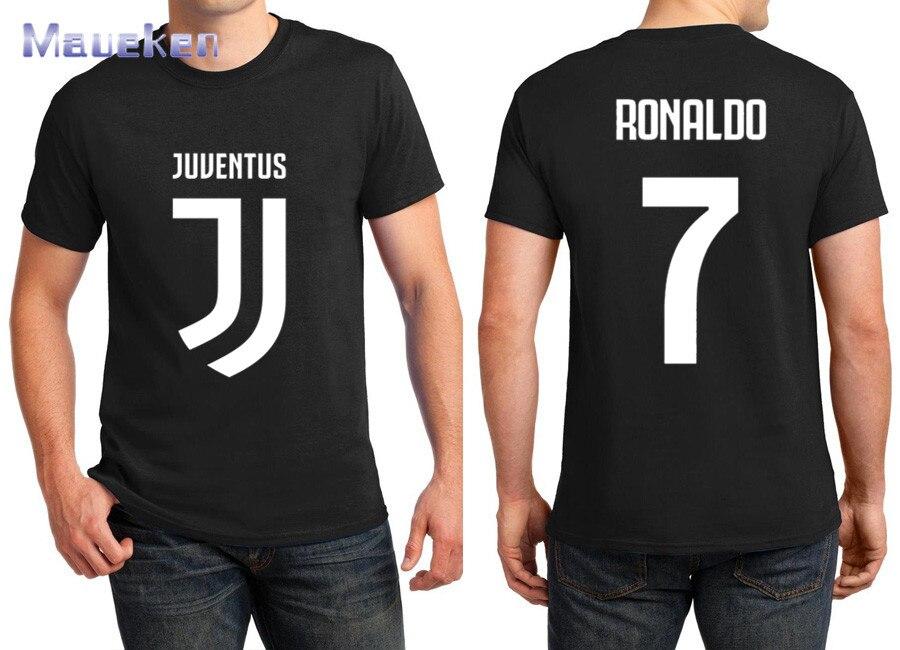 2018 impresso nome cristiano ronaldo cr7 T-Shirt Dos Homens de Manga Curta  100% 72b8360b34fca