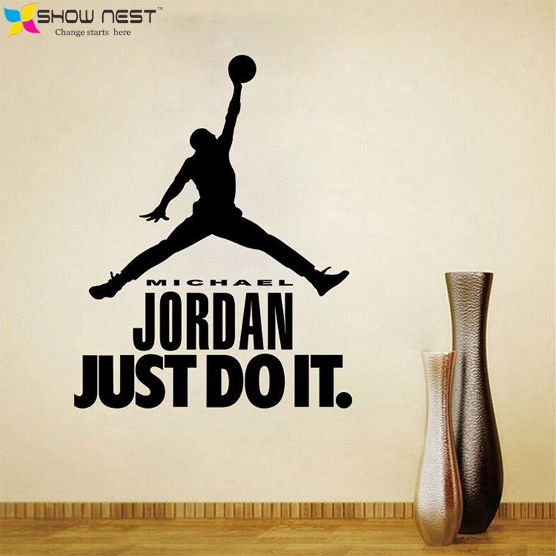 ... Michael Jordan Wall Decal Vinyl Sticker Home Decor   Boys Basketball  Idol Wall Murals   Boys ... Part 37