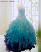 Hot 2018 Ball Gown Quinceanera Dress Lovely Sweetheart Beaded Applique Ruffles Tulle Girl Formal Party Gowns