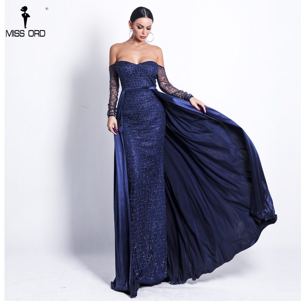Missord 2019 Women Sexy Backless Cloak Two Pcs Dress Female Solid Color Elegant Glitter Reflective Dress FT18696