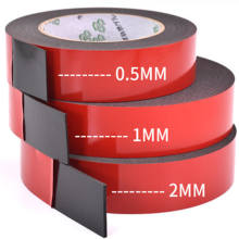 Ruban adhésif super résistant double face à 0.5mm — 2mm d'épaisseur 2/1 pièces, bande adhésive en mouse pour montage tampon de fixation collant