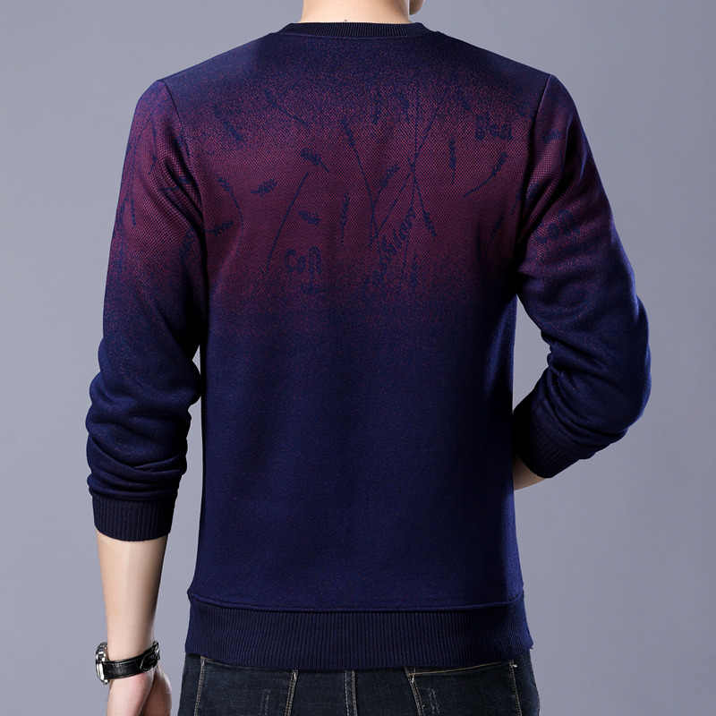 7aee57bc5927 ... Liseaven свитер для мужчин бренд утолщение пуловер свитер мужской с  круглым вырезом Slim Fit Вязание s ...