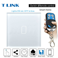 TLINK EU Standard Touch Switch 1 2 3 Gang 1 Way Wall Light Touch Screen Crystal