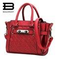 BAGSMART Mujer Bolsas 2017 Bolsas Moda Trapeze Bolsos de Invierno Las Mujeres de Color Rojo Bolsas de Mensajero Bolso Crossbody De Cuero de Marca Famosa