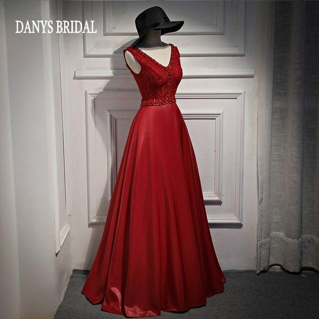 404b81e634 Piękne koronki suknie wieczorowe długie z kamienie Party zroszony kryształ  kobiety formalne suknie wieczorowe suknie nosić