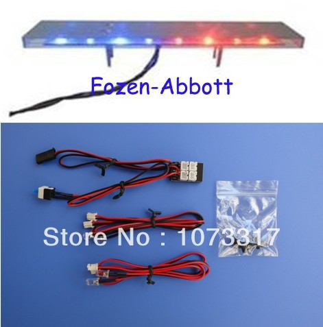 Rc 110 scale police light bar head light 4 flashing light 16 led rc 110 scale police light bar head light 4 flashing light 16 aloadofball Images