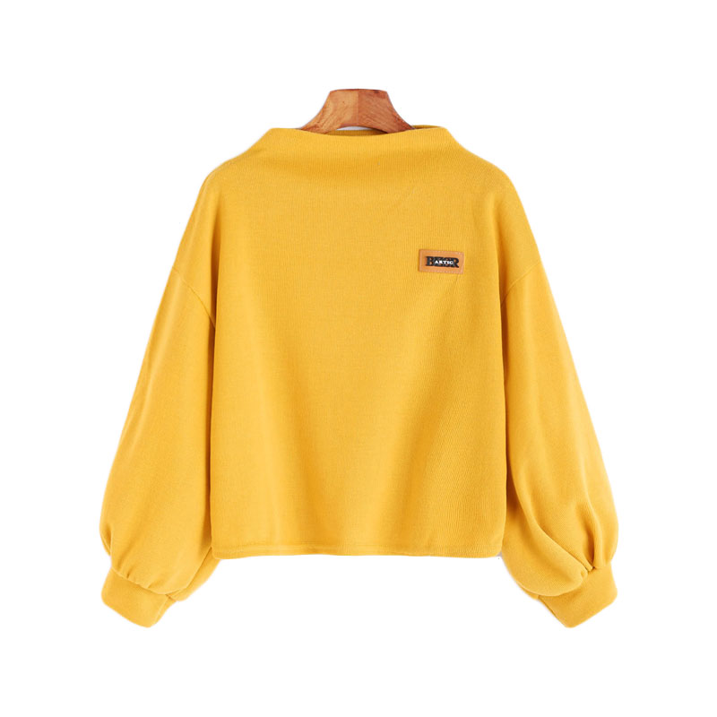 HTB13tIvSXXXXXc8XXXXq6xXFXXX5 - Funnel Neck Sleeve Lighthouse Patch Sweat Shirt Autumn Yellow Jerseys Ladies' Neck Long Shirts JKP014