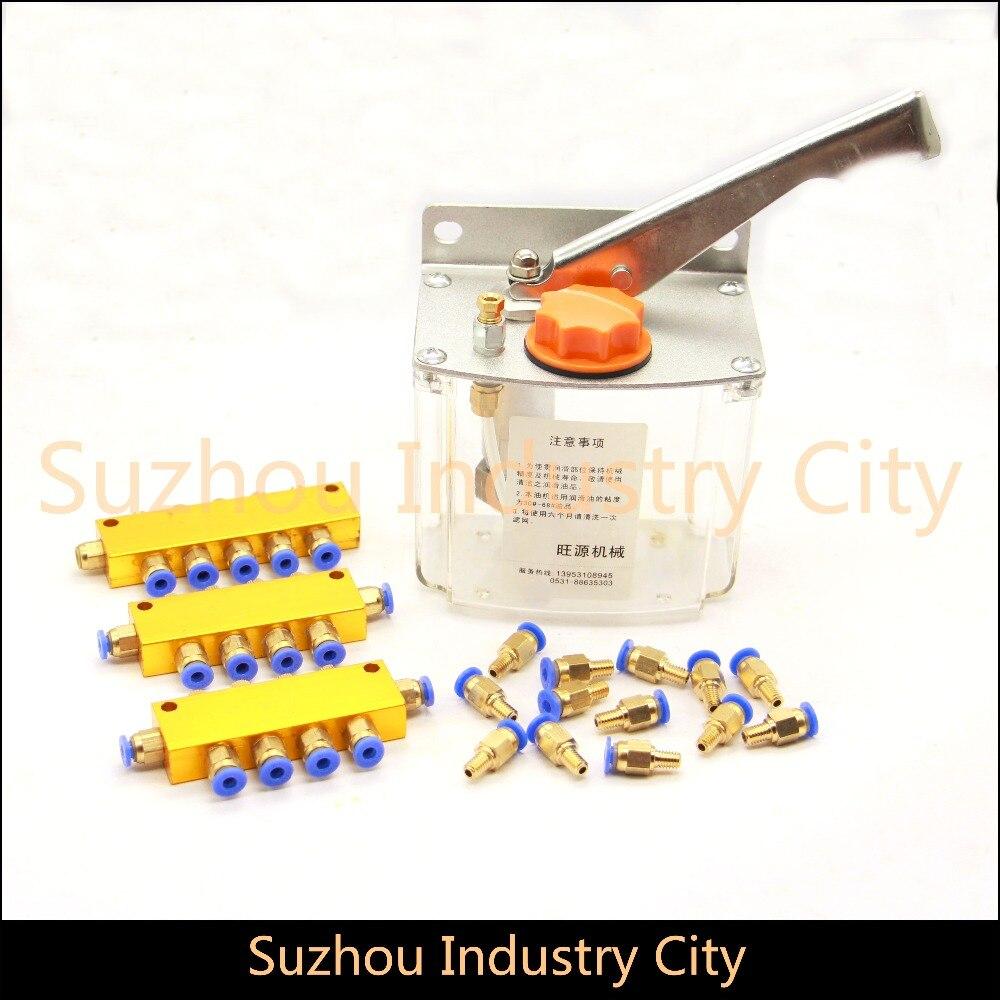 Pompe à huile CNC routeur machine manuelle pompe à huile carrée, pompes à injection manuelle, systèmes de lubrification, graisseur pour graveur de CNC