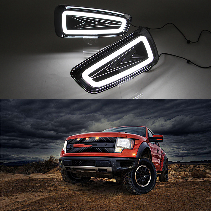 Car Flashing Car DRL LED Daytime Running Lights For Ford Raptor F150 2009 2010 2011 2012
