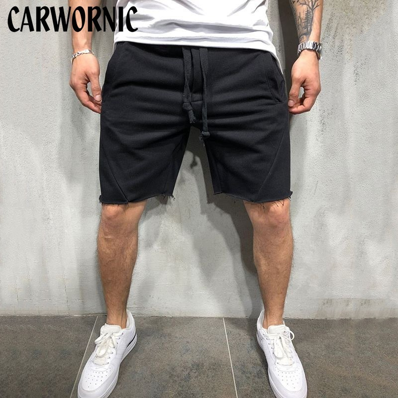 CARWORNIC New Fitness Workout Mens Short Quick Dry Breathable Gyms Solid Loose Shorts Hip Hop Casual Fashion Summer Shorts Men in Casual Shorts from Men 39 s Clothing