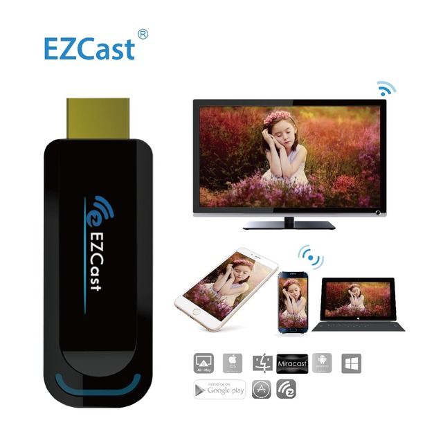 WIFi TV Stick 1080P Multiple EZCast 2.4G Support Miracast DNLA Airplay OTA  Wireless Dongle HDMI Display to  Projector Computer