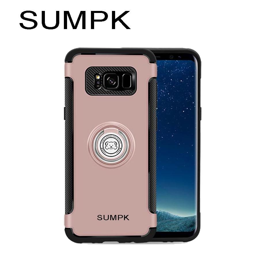 Kasus ponsel SUMPK untuk samsung s8 2 in 1 Magnetic car Holder Kasus - Aksesori dan suku cadang ponsel - Foto 3