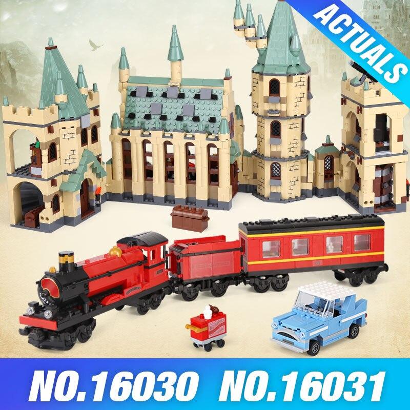Lepin Harry 16030 Potter Hogwarts Castle 16029 16031 Hogwarts Express 16055 Toys Building Block Bricks 4842 4842 5378 75955 Gift