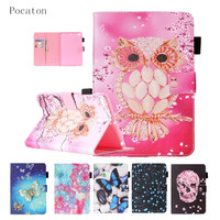 Case For IPad Mini1 2 3 Pocaton Cartoon Silicone PU Leather Flip Case For IPad Mini