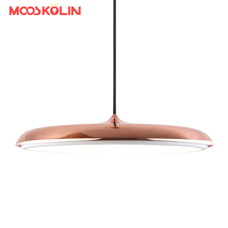 Nordic LED Pendant Lights For Home Lighting Modern Hanging Lamp Iron Lampshade LED Bulb Dining room Coffee Kitchen Light 90-260V nordic iron pendant lights lamps d35cm metal hanging light dining room kitchen home house light white black suspension lamp