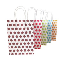 10 Pcs/lot 16x22cm Colorful Dot Gift Paper Bags Sweet Favor New Year Wedding Party Decoration Packaging