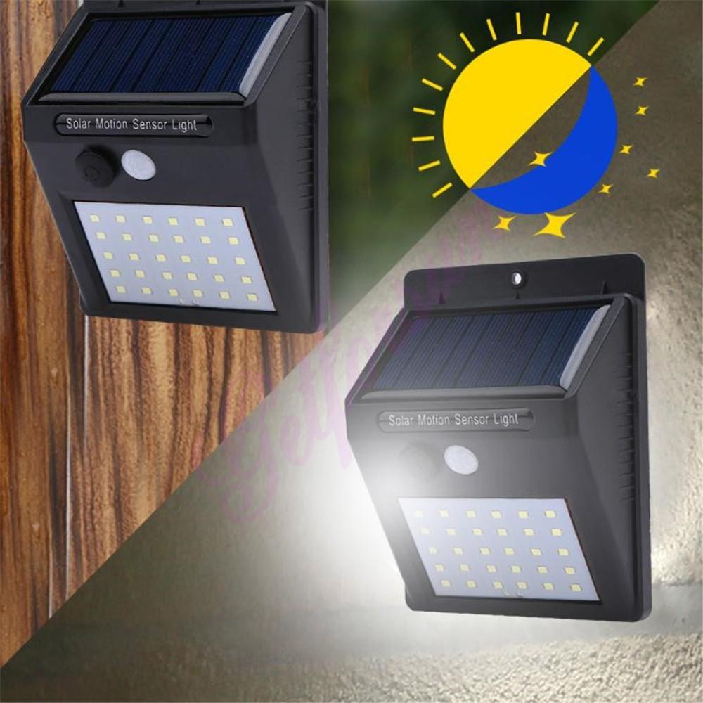 Solar Light 30 LED Outdoor Waterproof Garden Led Solar Powered Lights Battery Lamps Motion Sensor Light Wall Lamp street wall sp in Solar Lamps from Lights Lighting
