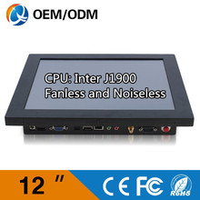 OEM 12″ all in one panel pc industrial touch screen Resolution 800×600 computer fanless pc Inter j1900 1.99GHz