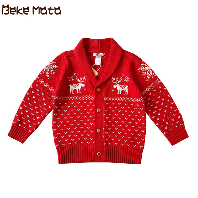 3577c2bde BEKE MATA Christmas Baby Sweaters Winter 2018 KnittedToddler Boy ...