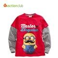 Мальчик футболка новая 2015 мода детская одежда для мальчиков футболка мягкой хлопковой дети с длинными рукавами свободного покроя Roupas Infantis Menino