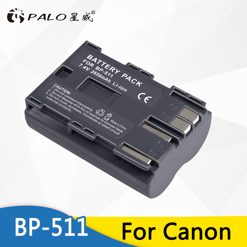 Palo 1Pcs 2650mAh BP 511 BP511 BP-511 BP511A Digital Camera Battery For Canon EOS 40D 300D 5D 20D 30D 50D 10D D60 G6 Batteries Palo 1Pcs 2650mAh BP 511 BP511 BP-511 BP511A Digital Camera Battery For Canon EOS 40D 300D 5D 20D 30D 50D 10D D60 G6 Batteries